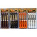 1 VE 4 X 12-tlg. Küchen-Messer-Set 4 Farben