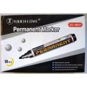1 VE 5 X 10er-Pack Permanent Marker Schwarz