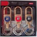 1 VE 3 X 6 Metall-Schlüsselhalter mit Karabiner
